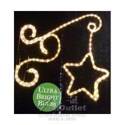 Комплект от две ярки Коледни звезди - всяка 60 см., 144 диода