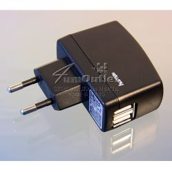 E-CIG 220V-to-2xUSB AC-DC Adapter: Адаптер 110/220V към 2xUSB