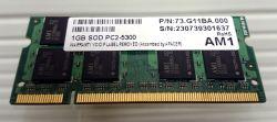 RAM 1GB PC2-5300 SO DIMM APACER Оперативна памет за лаптоп