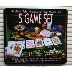 5 GAME SET Комплект от 5 игри в метална кутия