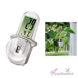 LCD термометър с голям дисплей за прозорец