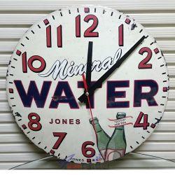JONES & Co. Mineral Water Advertising Clock Стенен часовник, антикварен
