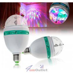 Многоцветна, въртяща се 3-LED лампа