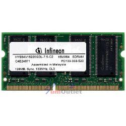 RAM 128MB PC133 SODIMM SDRAM Оперативна памет за лаптоп