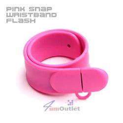 SATZUMA Wristband Pink 4GB USB Drive Преносима памет (флашка)