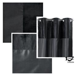 TESCO Velvet Taffeta Curtain Lined Eyelet Луксозни завеси, кадифе и тафта