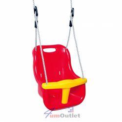Люлка столче, детска, градинска, с облегалка и преден стопер