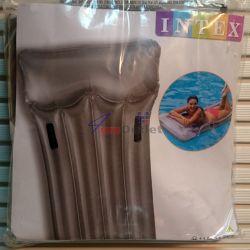 INTEX Надуваем плажен дюшек с дръжки и възглавница