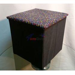 Столче сгъваемо (табуретка) с място за съхранение на вещи