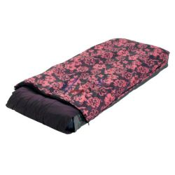"""Готово единично надуваемо легло """"Pink Floral Quick Bed"""": Всичко в едно!"""