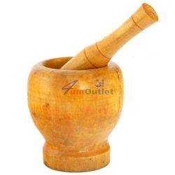 Дървено хаванче (кълцаник) за стриване на подправки и ядки