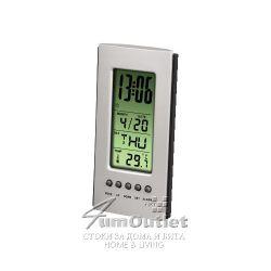 Настолен LCD часовник / термометър
