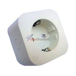 Смарт контакт 2200W, Бял, Интернет управляем