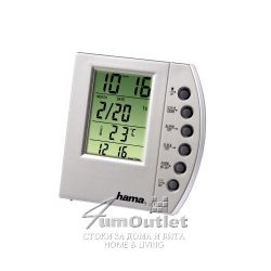 Настолен LCD часовник с прозрачен дисплей